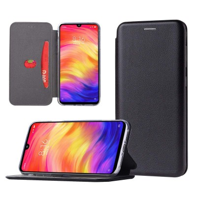 Θήκη Xiaomi Mi Note 10 Lite Soft TPU&PU Leather Flip  Βιβλίο Smart Magnet Elegance -Μαύρο