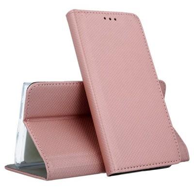 Θήκες Huawei Honor 10 Lite /P Smart 2019 Smart Book Case με Δυνατότητα Stand Θήκη Πορτοφόλι -Rose Gold