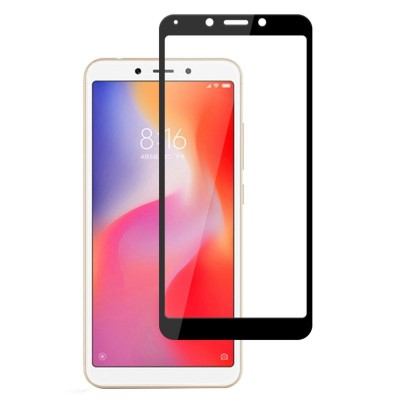 Xiaomi Redmi 6 / 6A 3D Full Face Curved Black Αντιχαρακτικό Γυαλί 9H Tempered Glass